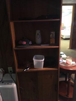 Wood Book Shelf with Storage for Sale in Pontoon Beach, IL