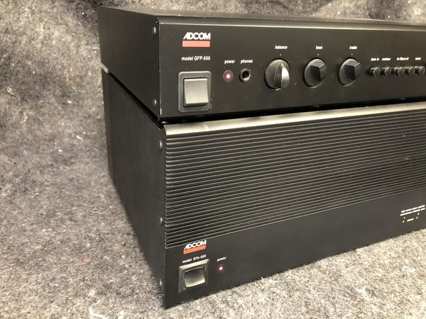 ADCOM GFA 555 and GFP 555. Audiophile amplifier preamp stereo. THE ONE!