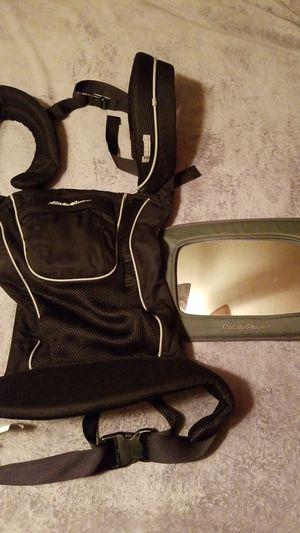 Eddie Bauer baby carrier & baby rear view mirror for Sale in Lorton, VA