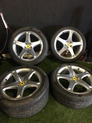Ferrari California Rims with tires like new for Sale in Miami, FL