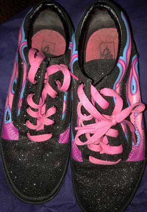 pink & blue flaming vans (BEST OFFER!!!) for Sale in Winter Haven, FL
