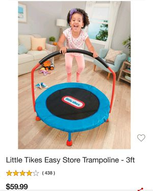 Little tikes easy store trampoline for Sale in Henderson, NV