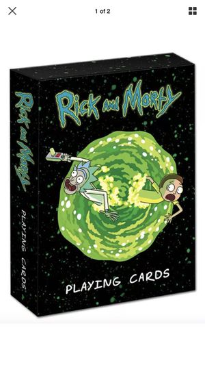Rick and morty playing cards for Sale in Miami, FL
