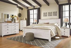 Willowton Whitewassssh Panel Bedroom Set for Sale in Arlington, VA