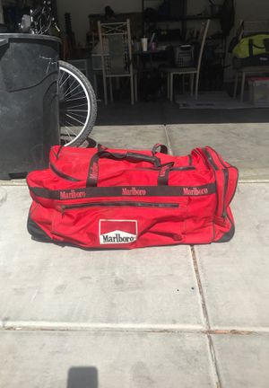 Red Marlboro Rolling Duffle Bag with Black Duffle for Sale in Las Vegas, NV