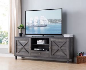 Oracle TV Stand up to 85in TVs, Distressed Grey, SKU 182290 for Sale in Fountain Valley, CA