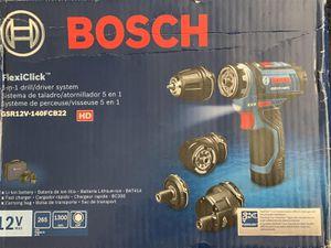 NEW Bosch GSR12V-140FCB22 12 V Max Flexiclick 5-In-1 Drill/Driver System NEW for Sale in Doral, FL