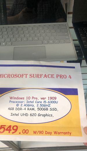 Microsoft surface pro for Seahawk addition for Sale in Vancouver, WA