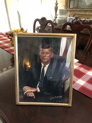 11x14 Antique vintage 1960s JOHN F KENNEDY framed picture portrait. Purchased in Portland Maine. 35.00. 212 north Main Street Buda 🍁Johanna vintage for Sale in Buda, TX