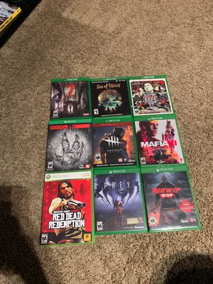 Xbox one games and one for 360 but plays on Xbox one for Sale in Columbus, OH