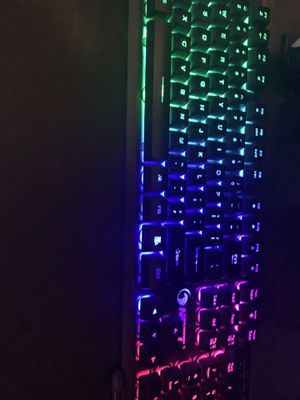 Gaming keyboard mouse and mouse pad for Sale in Eagle Rock, VA
