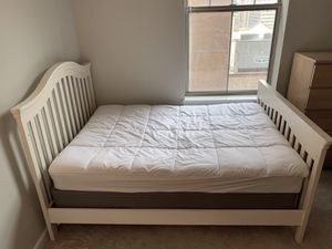 Pottery Barn White Bed Frame - Full Size for Sale in Baltimore, MD