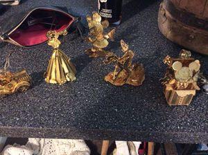 5 piece gold plated Disney Danbury ornaments for Sale in PLEASURE RDGE, KY