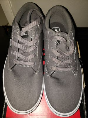 NEW- Gray/White Van's size 6 youth for Sale in Renton, WA