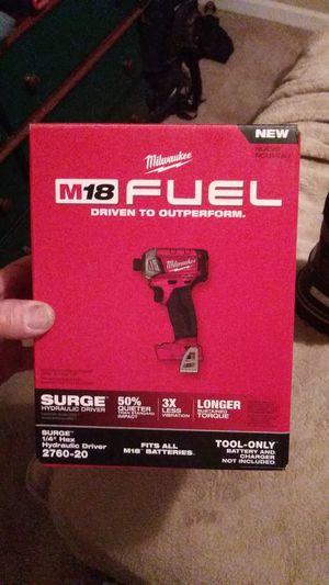 Milwaukee m18 1/4 hex hydraulic impact driver for Sale in Marietta, GA