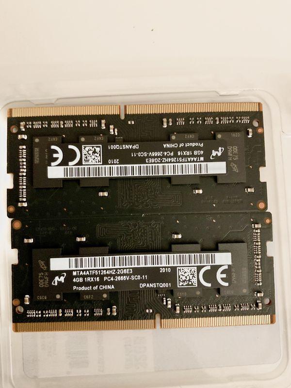 8GB RAM Apple DDR4 2X4GB