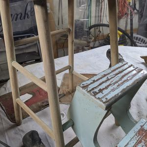 Antique OLD Stepping Stool Found In Collapsed Barn for Sale in Little Falls, MN