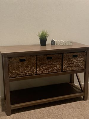 Farmhouse look 👀 console table for Sale in Beaumont, CA