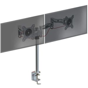 """Dual Screen Desktop Mount ...Up To 27"""", Silver for Sale in Fresno, CA"""