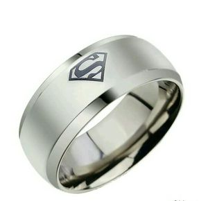 New Superman Rings. 316L Stainless Steel. Sizes 7-12 Available. Pickup In South St. Louis. for Sale in St. Louis, MO