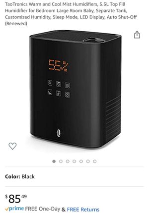 New TaoTronics warm and cool mist humidifier for Sale in Santa Fe Springs, CA