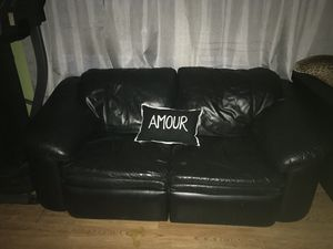 Sofa recliner seats leather for Sale in Salt Lake City, UT