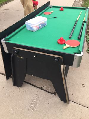 3 in 1 game table! Pool table, air hockey, and ping pong for Sale in Des Moines, IA