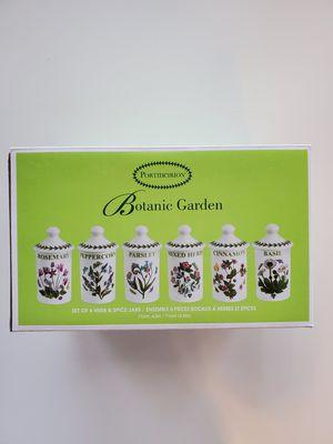 Portmeirion Botanic Garden Set of 6 Herb & Spice Jars for Sale in Grand Prairie, TX