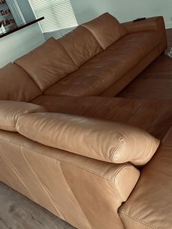 Real Leather Sectional for Sale in Hollywood,  FL