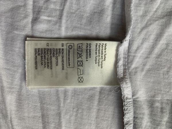Men's DIVIDED BLUE H&M Black n White T-Shirt