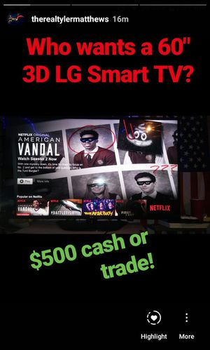 60 inch LG Cinema 3D Smart TV for Sale in Columbus, OH