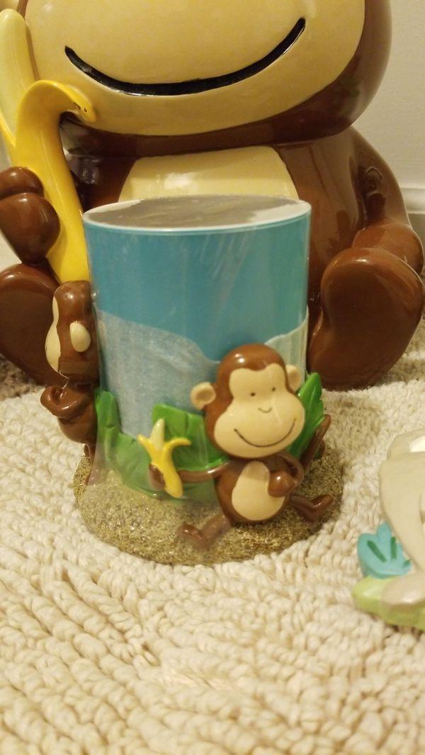 Kid Monkey jungle Bathroom set