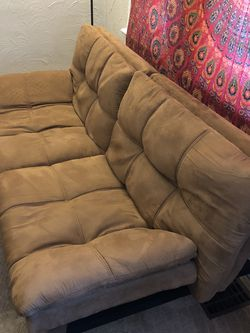 Small Adjustable Futon, Light Brown/rust Color - $90 OBO for Sale in Denver,  CO