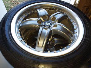 "17"" Motegi Racing Rims with P215/50r17 Tires for Sale in Billings, MT"