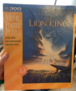 Disney The Lion King 300 Piece Puzzle Sealed for Sale in Davenport, FL