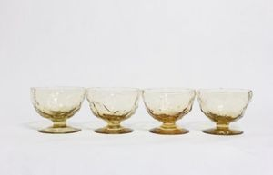 Anchor Hocking, Yellow Glassware, Vintage Glassware, Yellow Glasses, Vintage, Champagne Glasses , Milano Lido Rock, Anchor Hocking, Set of 4 for Sale in Los Angeles, CA