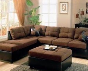 Dark Brown Sectional Sofa With Reversible Chaise !! Brand New for Sale in Chicago,  IL
