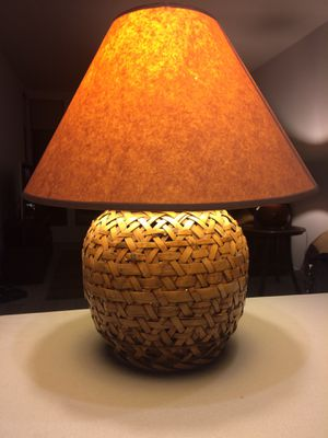 Set of 2 vintage bamboo table lamps for Sale in Berkeley, CA