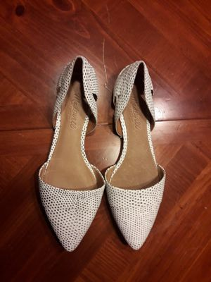 Madewell White Eyelet D'Orsay Flat SIZE 6.5 for Sale in Columbus, OH