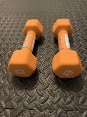 New pair of neon 8 pound dumbbells for Sale in Secaucus, NJ