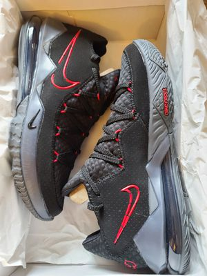 *BRAND NEW* $150 OBO! MEN'S SIZE 12 NIKE LEBRON 17 LOWS BLACK/GREY, AND CRIMSON. NEVER TRIED ON OR WORN. for Sale in Cuyahoga Falls, OH