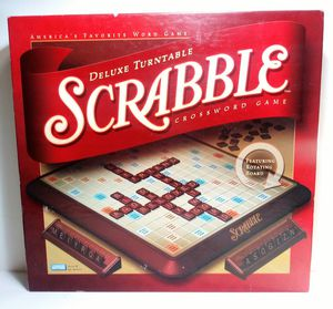 SCRABBLE Deluxe Turntable Board Game 2001 PARKER BROTHERS 100% COMPLETE Hasbro for Sale in Garland, TX