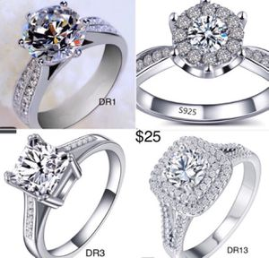 925 Sterling Silver cz diamond Ring size 5-12 for Sale in Houston, TX