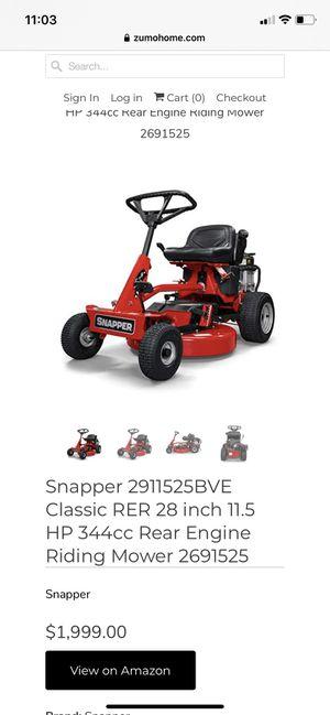 "Riding lawn mower tractor snapper 30"" for Sale in Boynton Beach, FL"