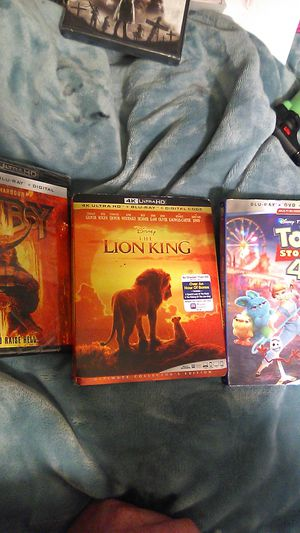 Brand new DVDs lion king 4k toy story blueray hellboy 4k for Sale in Clovis, CA