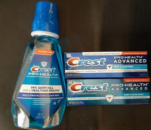 Crest Pro Health Toothpaste & Mouthwash for Sale in Chicago, IL