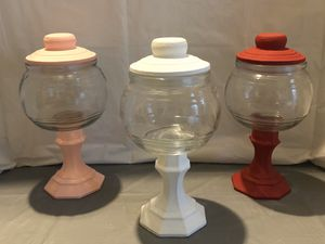 Pink, White & Red Chalk Paint Jars Set for Sale in Riverton, UT