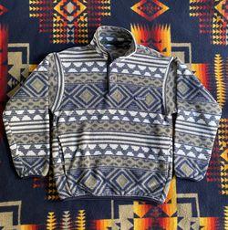 Vintage 90s Aztec Tribal Pattern Synchilla Fleece Sweatshirt Size XS for Sale in Westminster,  CA