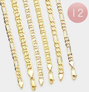 12 Different Concave 14k Gold Plated Chains for Sale in Parkville, MD