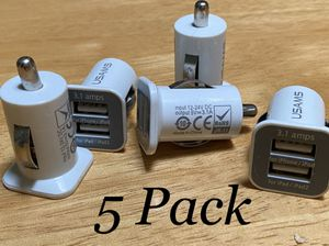 Dual USB Port Car Adapter Charger 5 Pack for Sale in Mesa, AZ